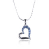 Blue Swarovski Elements Open Heart Pendant with Necklace