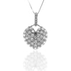 Pave Set Sterling Silver Pendant with White CZ