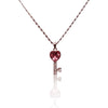 Key to my HEART Pendant Necklace with Pink Swarovski Crystal