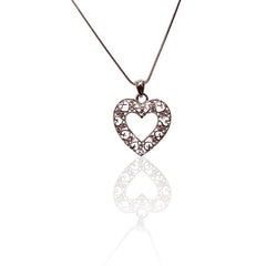 Cut out fashion Open HEART Necklace