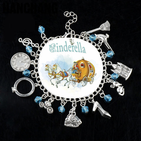 Jewelry Alice In Wonderland Charm Bracelet Cinserella Shoes