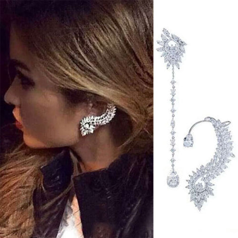 Nightclub Silver Statment Earring