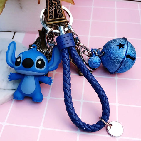 Cartoon Lilo and Stitch Keychain LED Stitch Key Ring