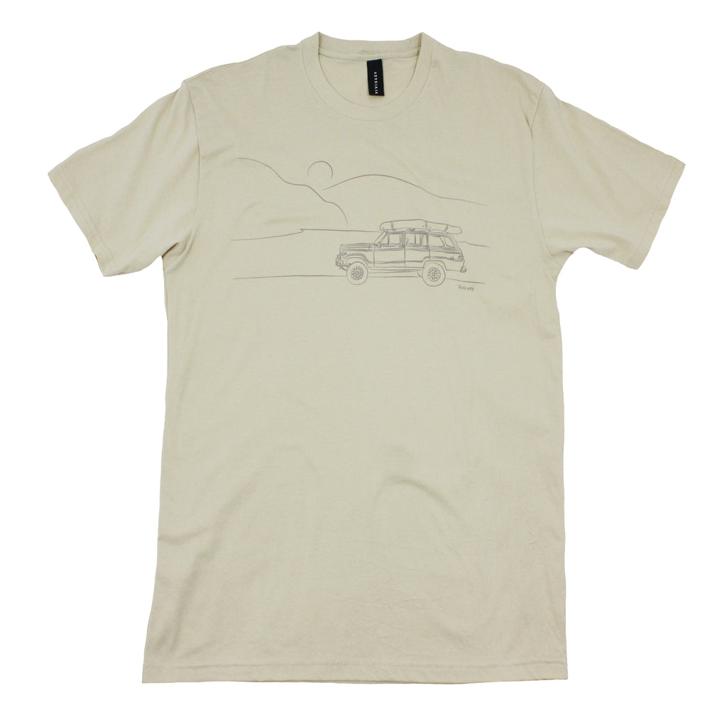 Jeep and mountians tee shirt
