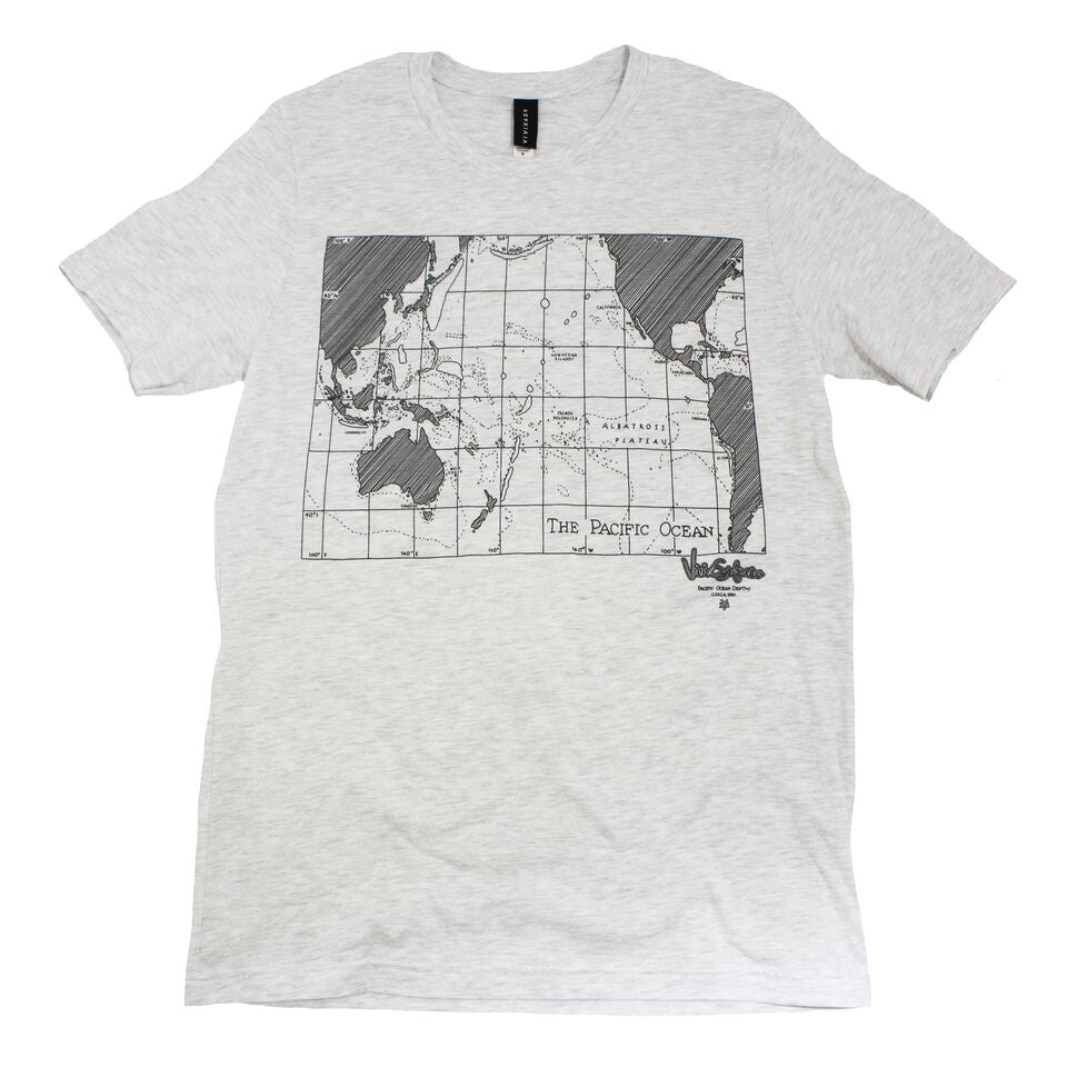 Mens graphic map tee shirt