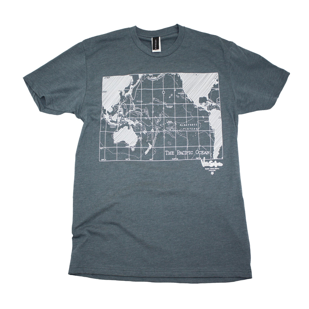 Hand drawn map t shirt