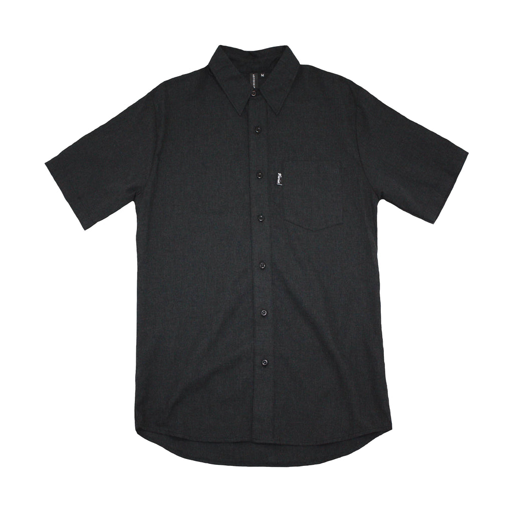 American Made Mens Short Sleeve Button Up