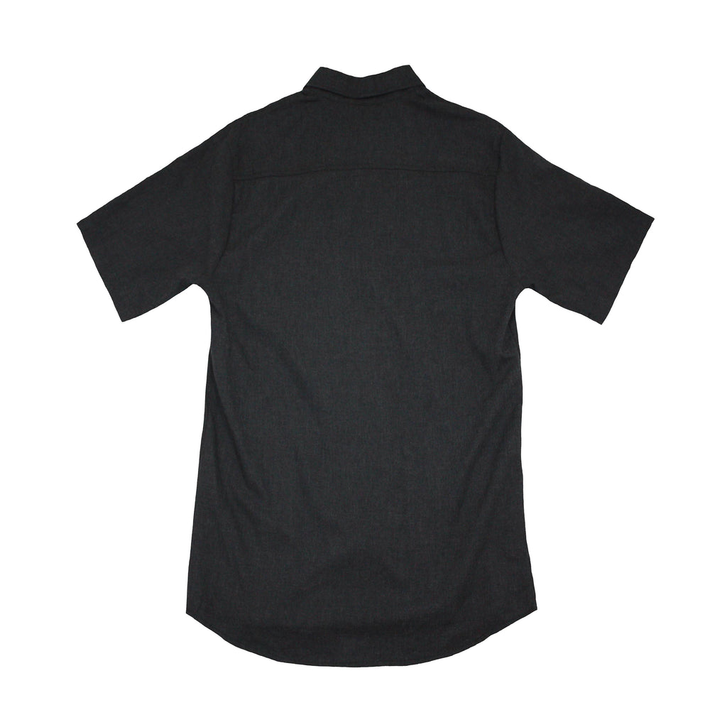 Short Sleeve Mens Woven Butto Up