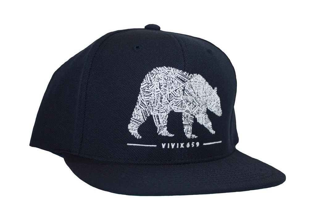 Snap back unisex bear hat
