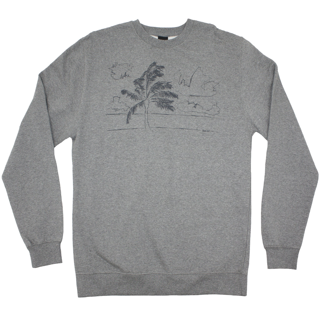 Mens coastline crewneck sweatshirt