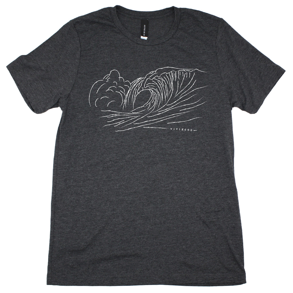 Hand drawn men's waves tee shirt