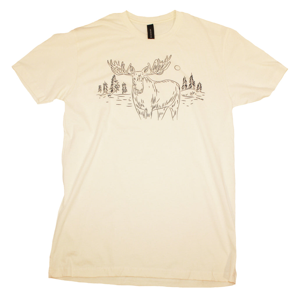 Mooose and trees graphic t shirt