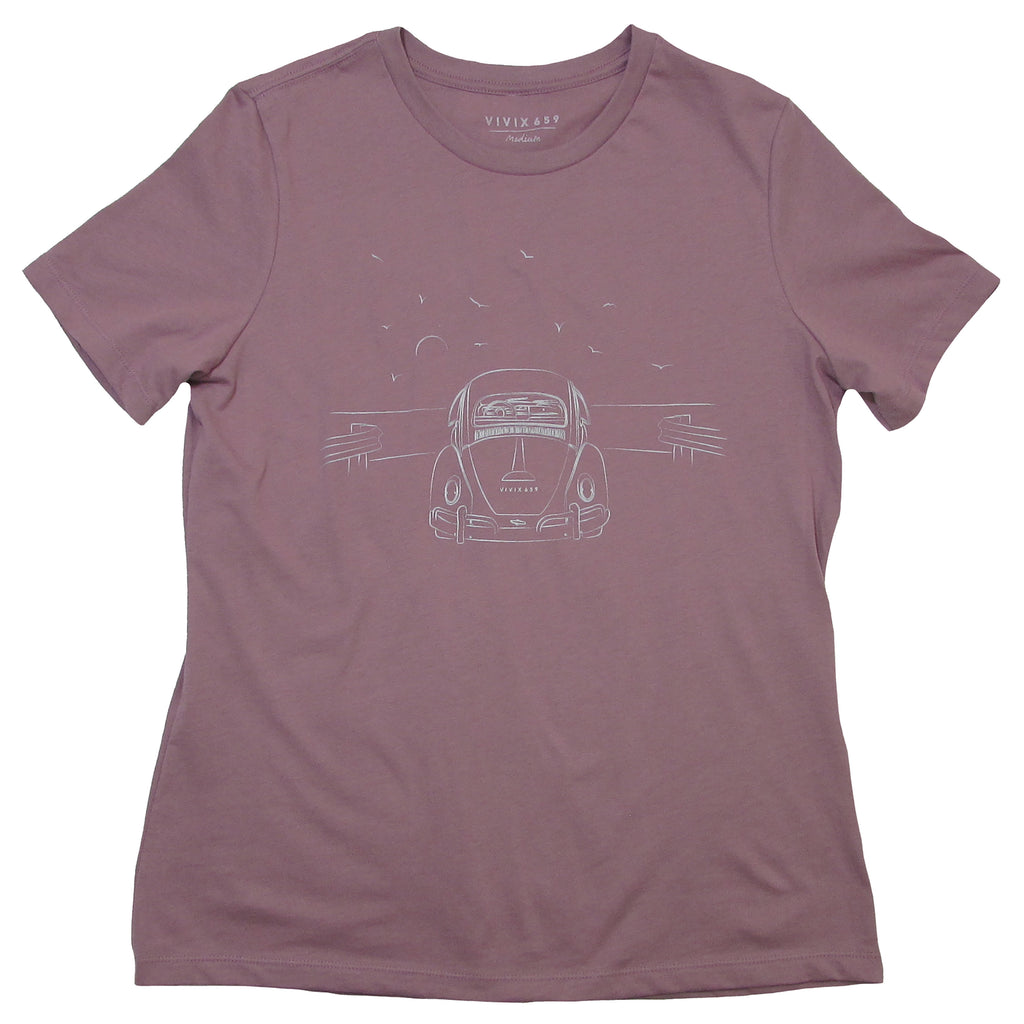 Hand drawn women's VW bug t shirt