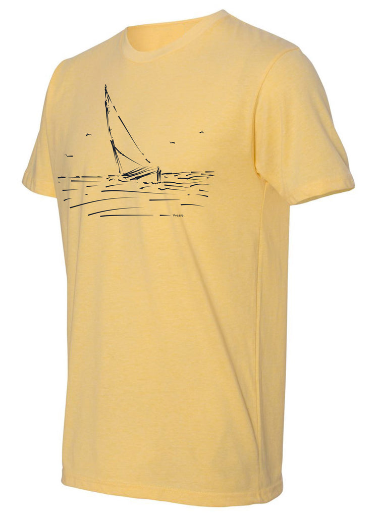 Mens sail boat t shirt