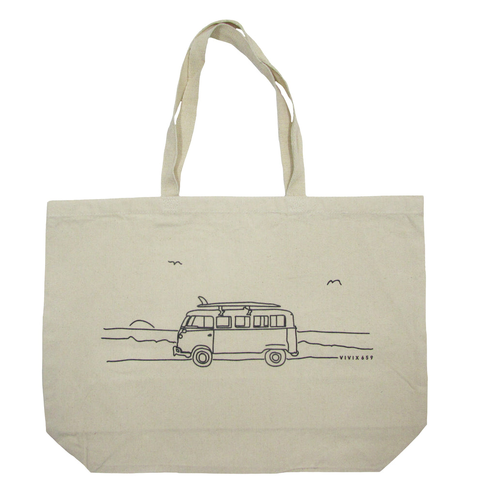 VW Bus canvas tote bag