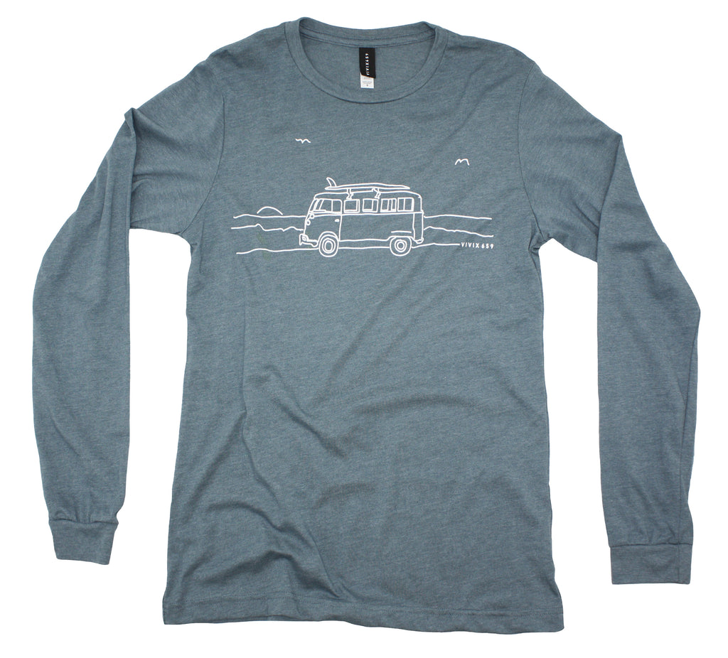 Mens Volkswagen Bus long sleeve t shirt
