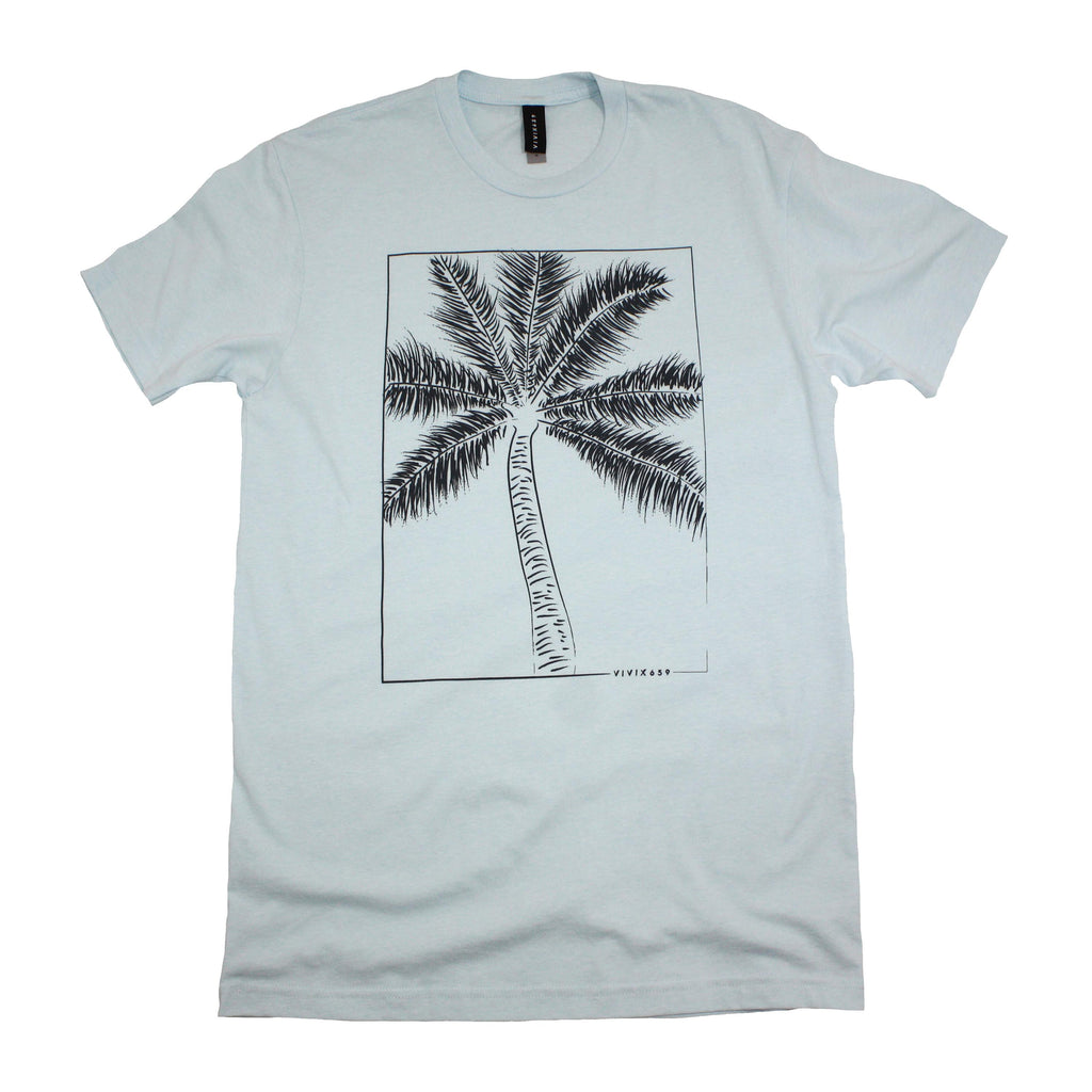 Hand drawn palm tree t shirt