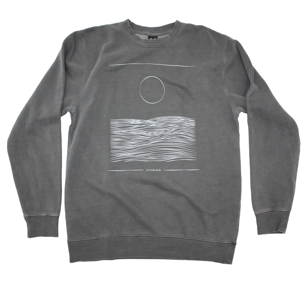Mens pigment dyed Sun on Water sweatshirt