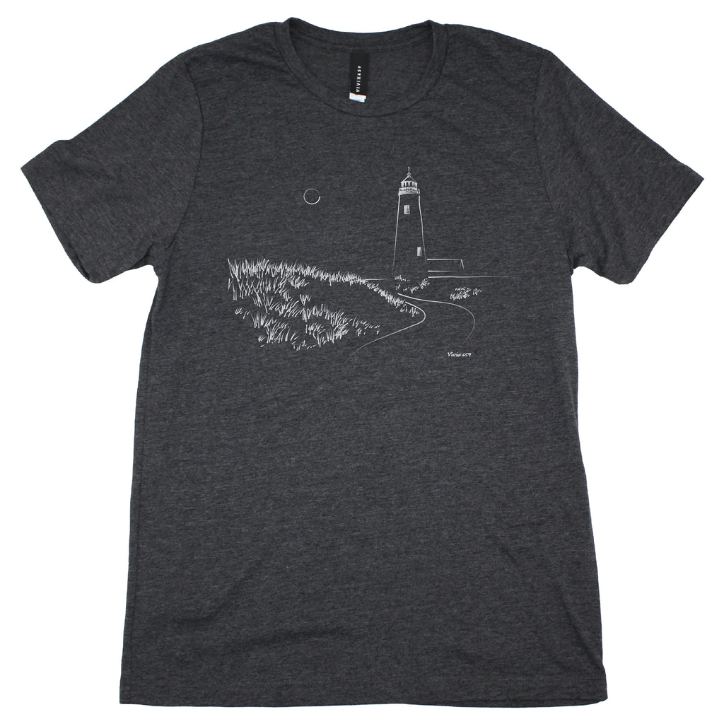 Mens graphic lighthouse tee shirt