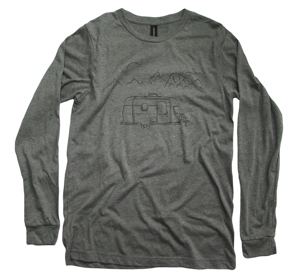 Men's long sleeve camper tee shirt