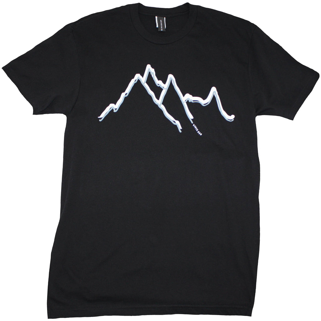Hand drawn mountain t shirt