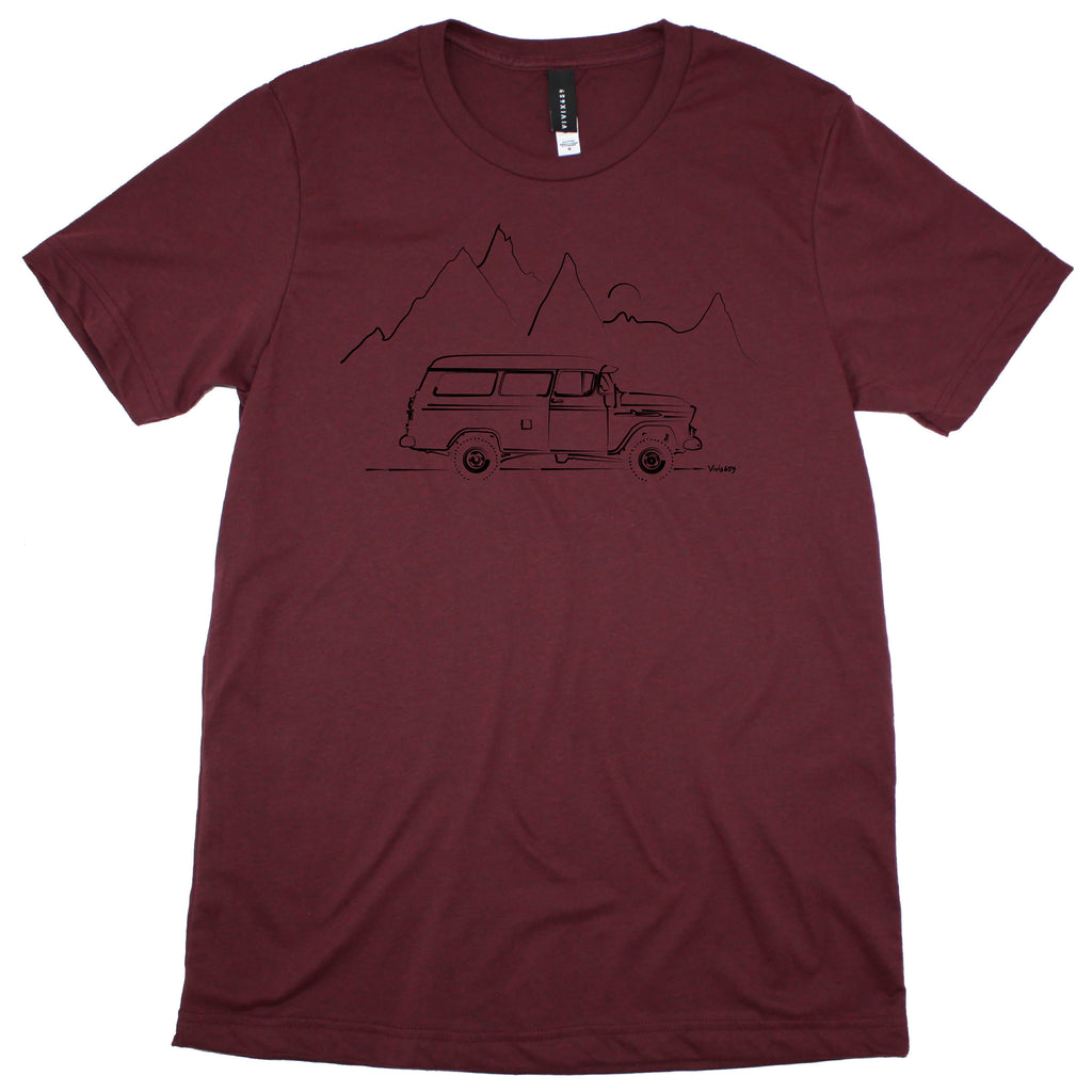 Art inspired mens chevy suburban t shirt
