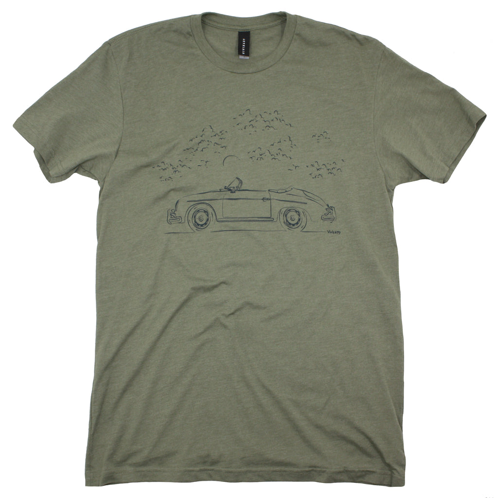 Art inspired Porsche Speedster tee shirt