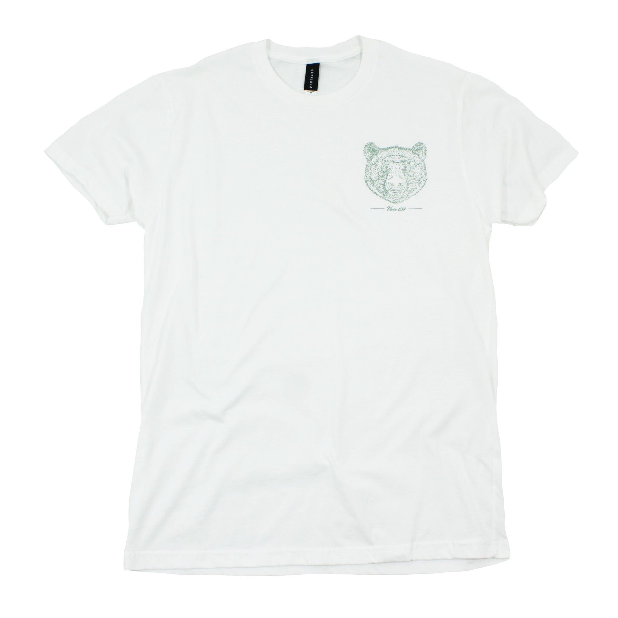 Mens bear face tee shirt
