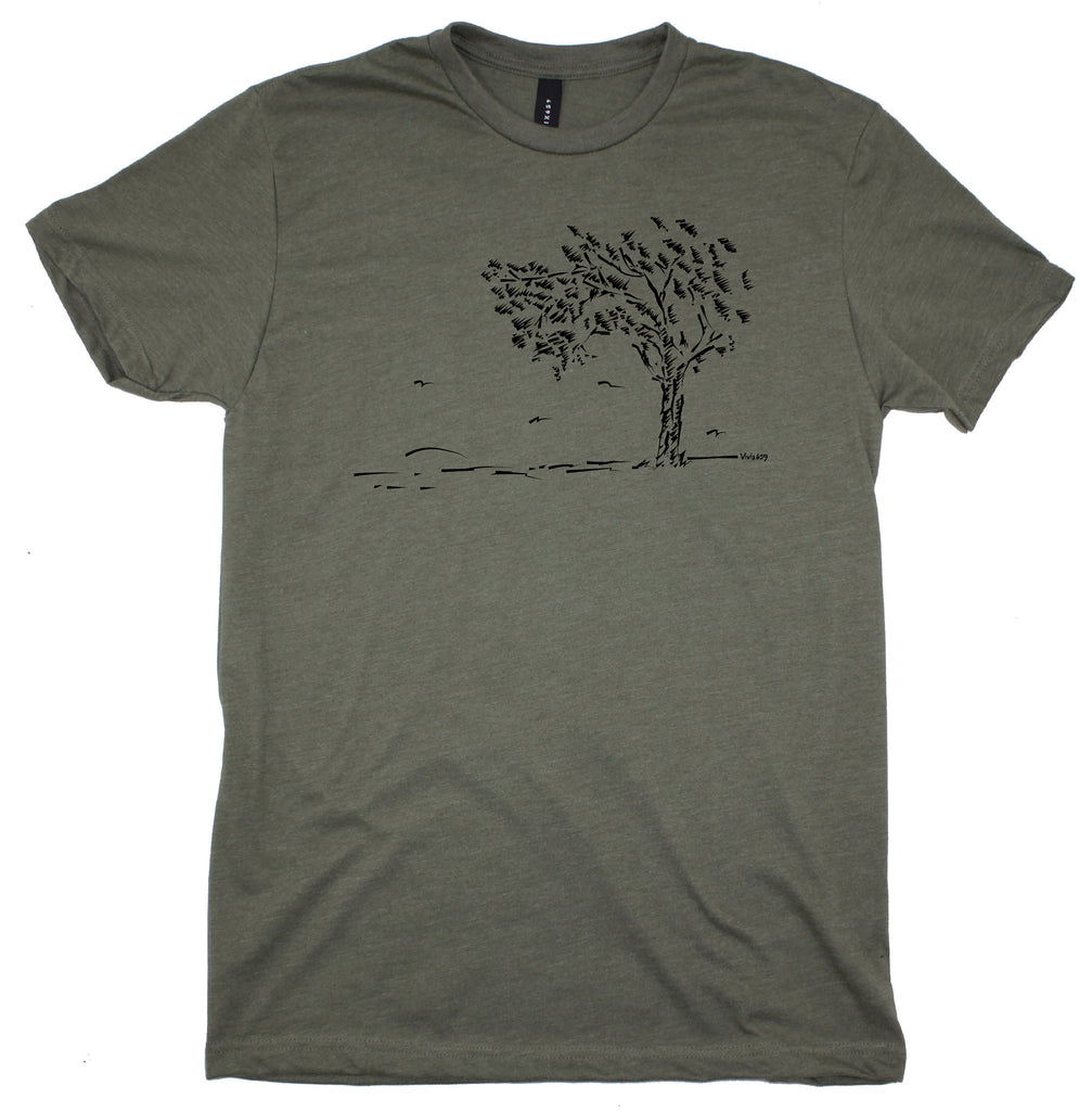 Men's tree at sunset tee shirt