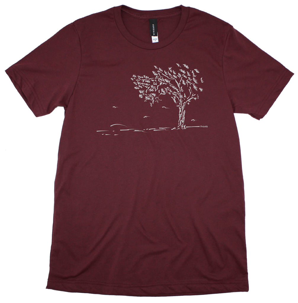 Men's hand drawn tree tee shirt