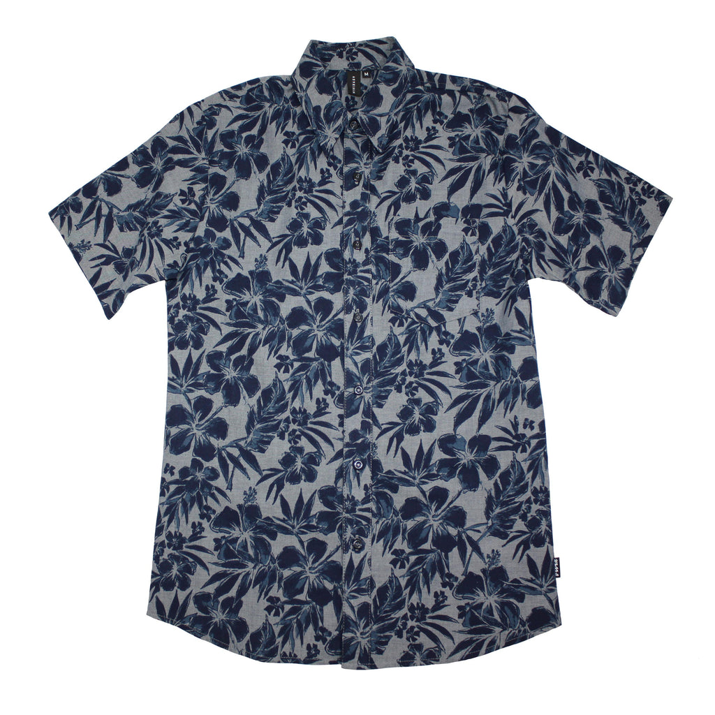 American made Hawaiian printed button up