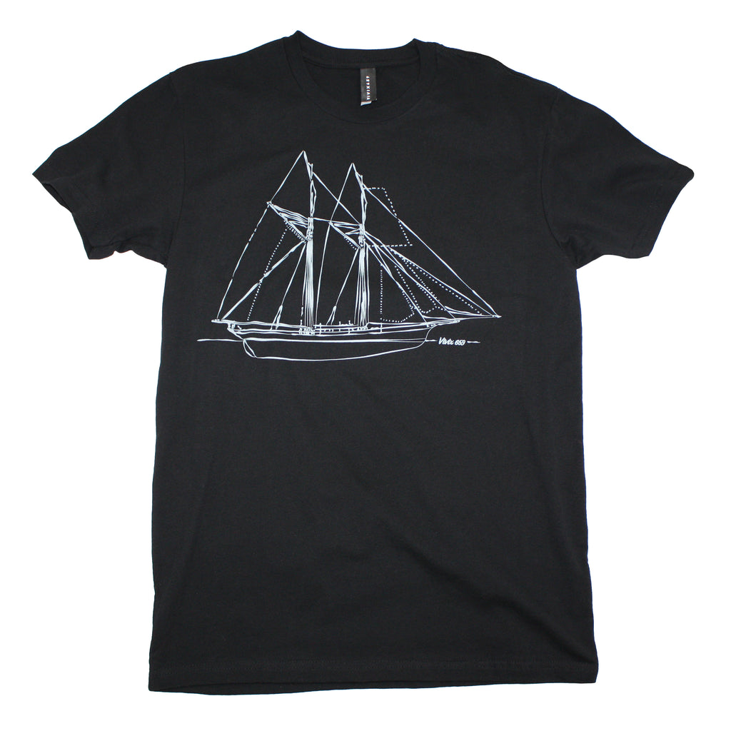 Mens graphic sailboat t shirt