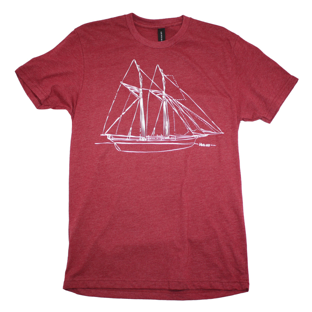 Art inspired sailboat t shirt