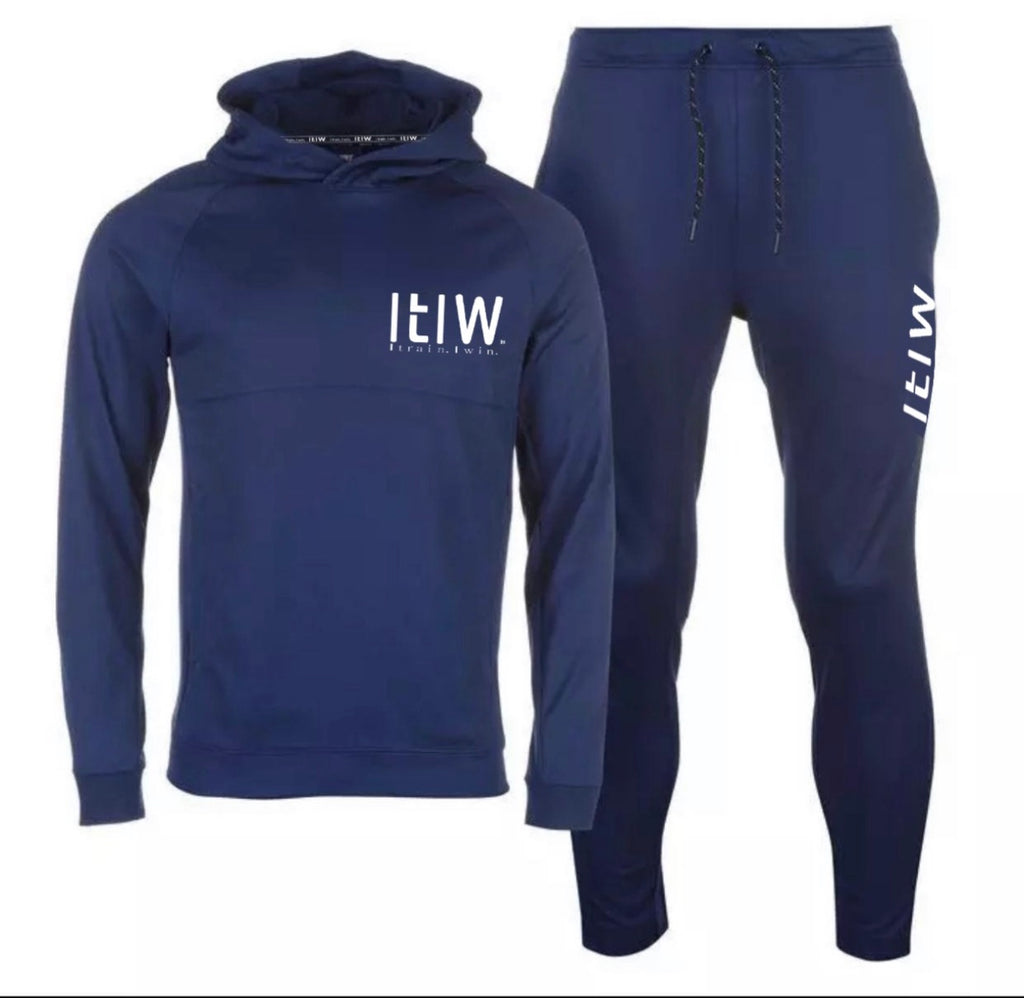 BLUE POLYESTER TRACKSUITS
