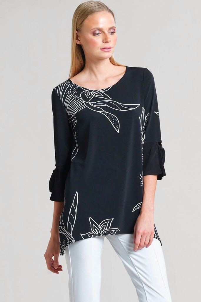 Flattering Black & White Tunic Top #1 Seller! - Wild & Personal Boutique