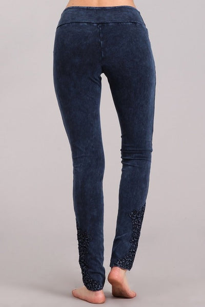 Snazzy Cotton Lace Leggings For Long Legs