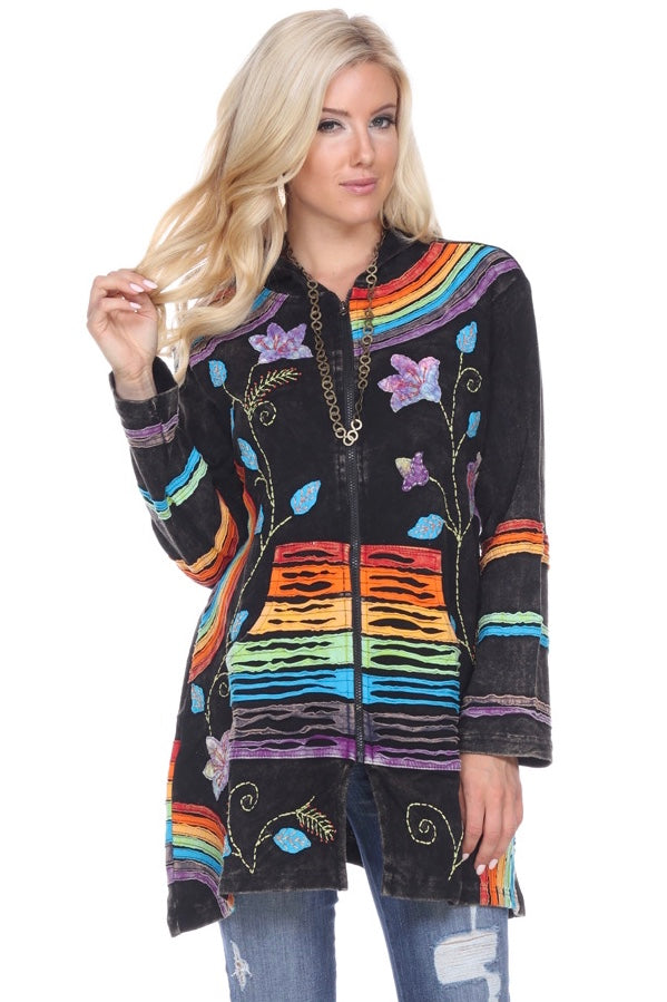 Rainbow Nepal Jacket With Hoody.