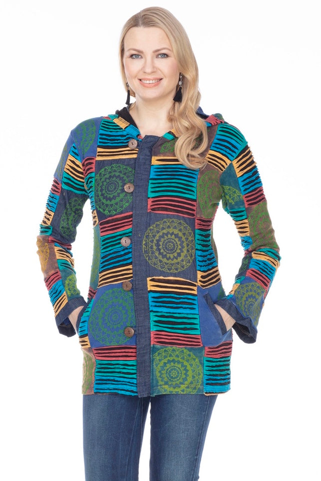 Jewel Tone Medallion Nepal Jacket - Newest!