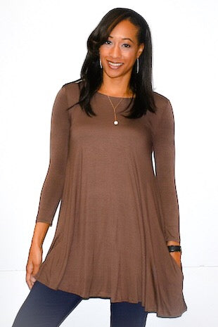 Comfortable Piko Dress With Hidden Pockets - Wild & Personal Boutique