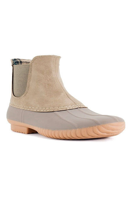 Popular Comfy Duck Boot In Beige