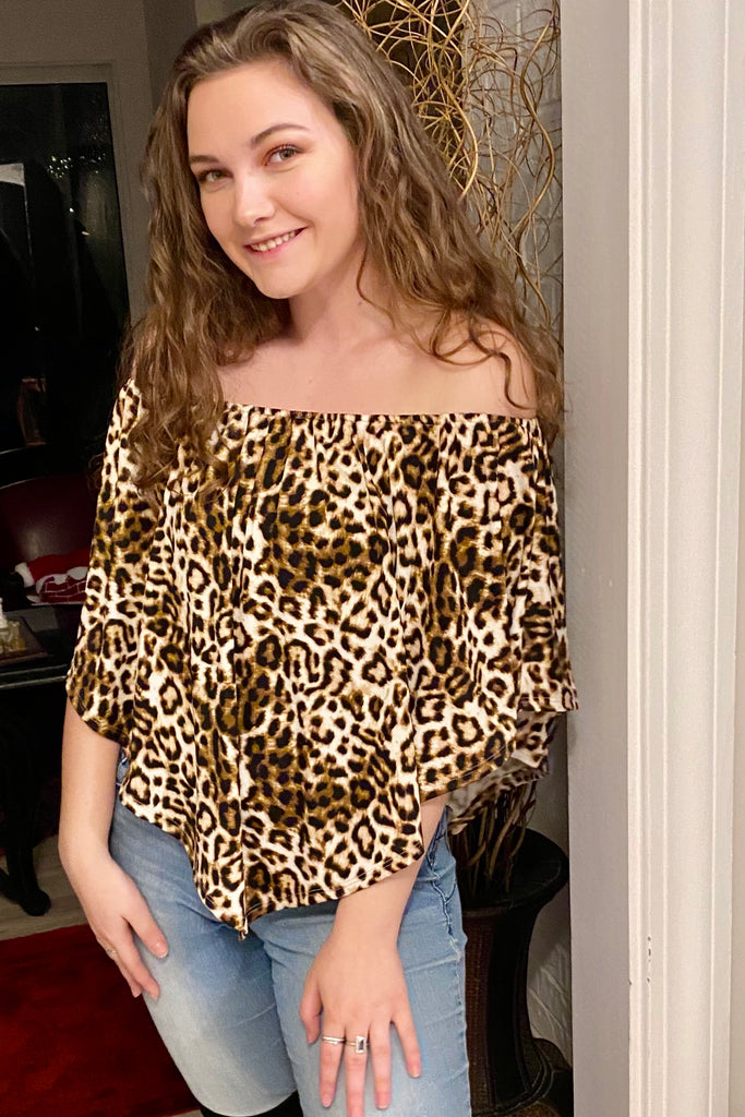 Snazzy Leopard Print 4 Way Top - Wild & Personal Boutique