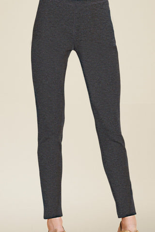 Warm & Soft Ponte Slim Pant - Charcoal