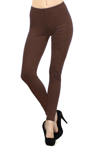 Brown High Waist Leggings - Wild & Personal Boutique