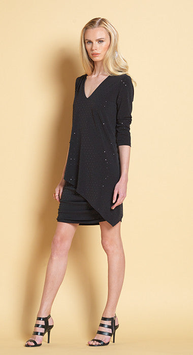 Soft-Shimmer Rouched Sleeve Dress - Wild & Personal Boutique