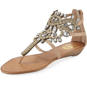 Araminta Sandal in Natural & Multi Color