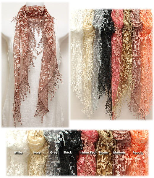 Lace Scarves Are In - Wild & Personal Boutique
