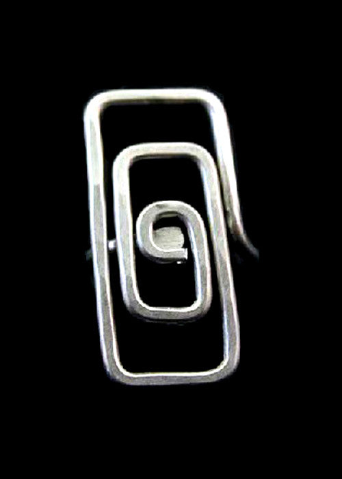 Spiral Rectangle Ring - Wild & Personal Boutique