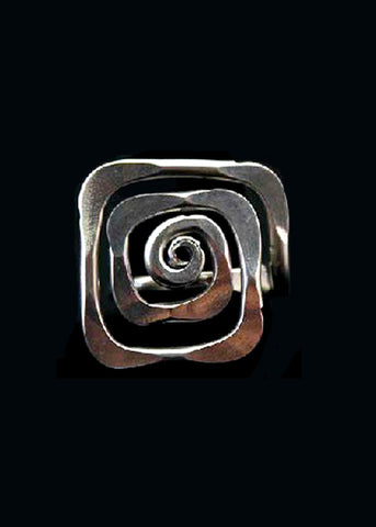 Spiral Square Ring - Wild & Personal Boutique