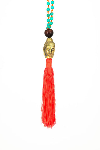 RN Buddha Necklace Gold/Orange
