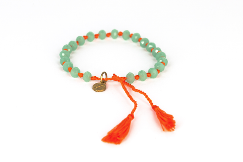Bling-Bling light turquoise with orange